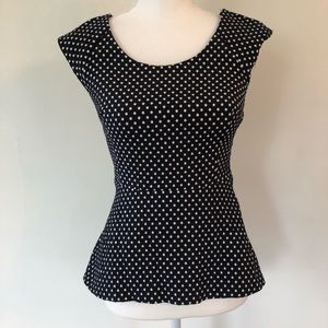 Banana Republic Fit and Flare Polka Dot Top